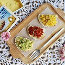 水果開放式三明治#安佳黑科技易涂抹軟黃油#