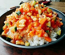 低脂减肥餐【蔬菜鸡肉饭】的做法