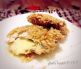 燕麦片爆浆鸡排的做法