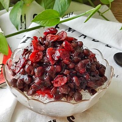 蔓越莓蜜豆刨冰