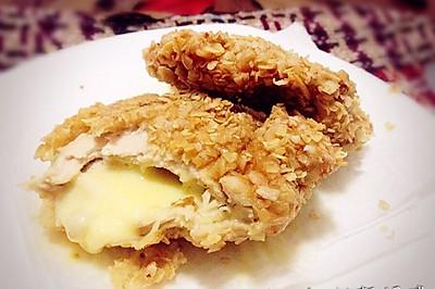 燕麦片爆浆鸡排