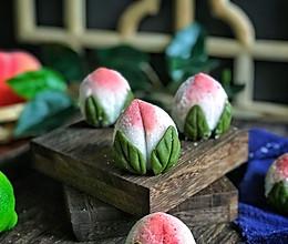 #一道菜表白豆果美食#不用蒸也不用烤的寿桃的做法