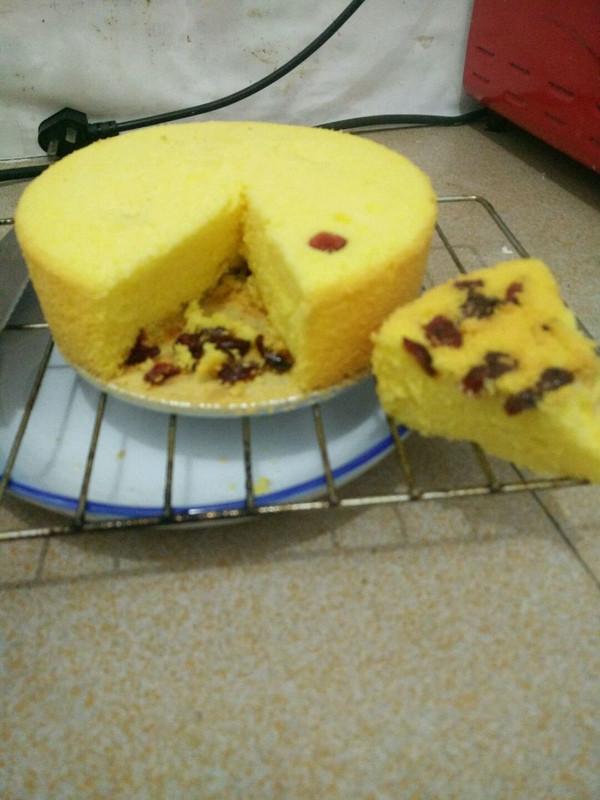 六寸零失败~戚风遇上蔓越莓蛋糕的做法