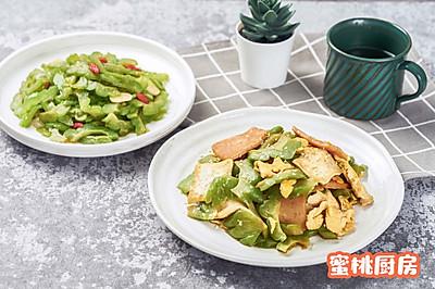 苦瓜两吃(凉拌苦瓜+什锦炒苦瓜)