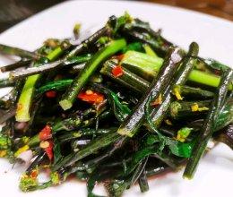 陈醋料炒红菜苔的做法