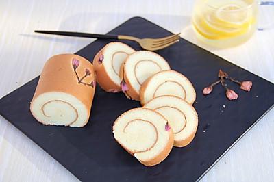 #童年不同样,美食有花样# 樱花蛋糕卷