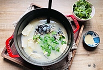 #福气年夜菜#汤鲜味美的鱼头豆腐汤的做法