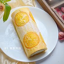 #快手又营养,我家的冬日必备菜品#美味香橙蛋糕卷