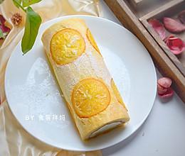 #快手又营养,我家的冬日必备菜品#美味香橙蛋糕卷的做法