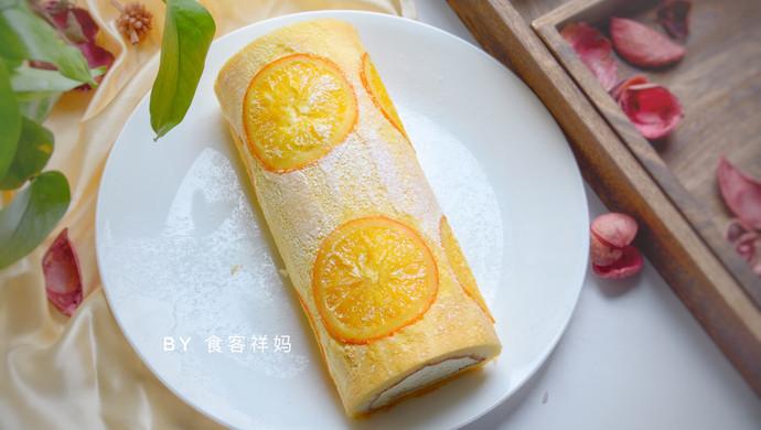 美味香橙蛋糕卷