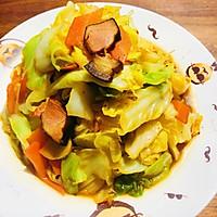 家常炒圆白菜的做法图解7