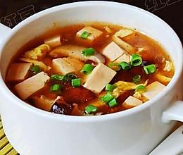 酸辣香菇豆腐汤的做法