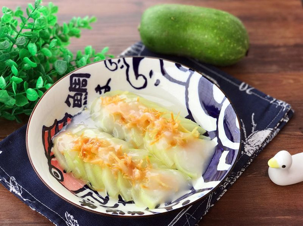 快手蒸菜 姜汁干贝蒸节瓜的做法