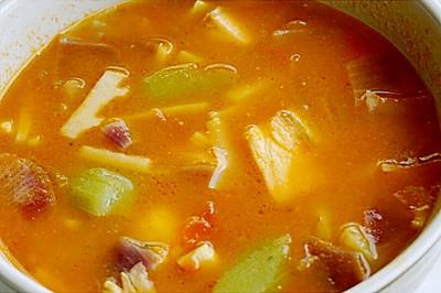 三文鱼杂蔬大酱汤