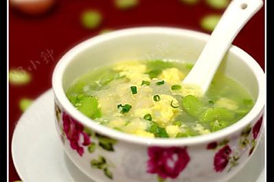 蚕豆米蛋花汤