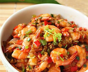 香辣基围虾的做法