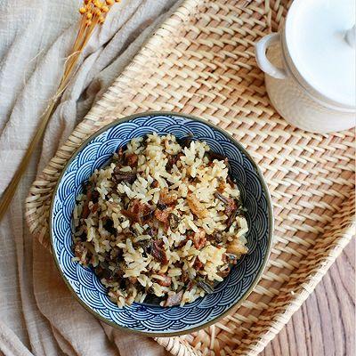 梅干菜肉丁焖饭