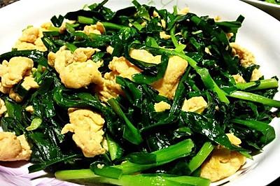 韭菜炒鸡蛋 春季应节菜