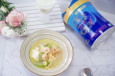 虾仁丝瓜豆腐汤