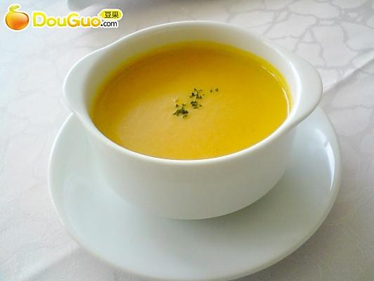 奶油南瓜浓汤——微波食谱的做法
