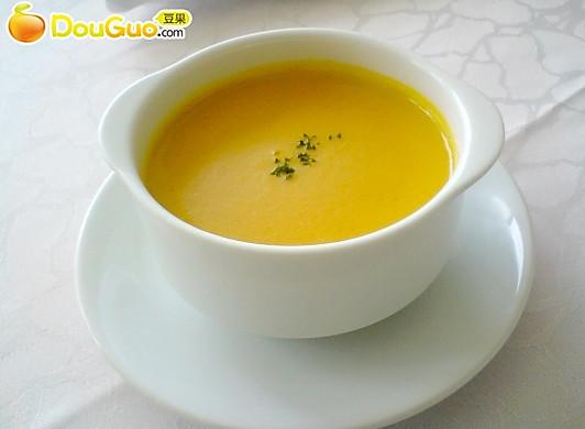 奶油南瓜浓汤——微波食谱
