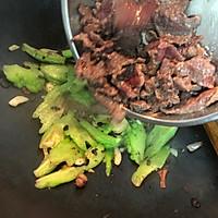 #多力金牌大厨带回家#复刻金牌豉汁凉瓜炒牛肉的做法图解8