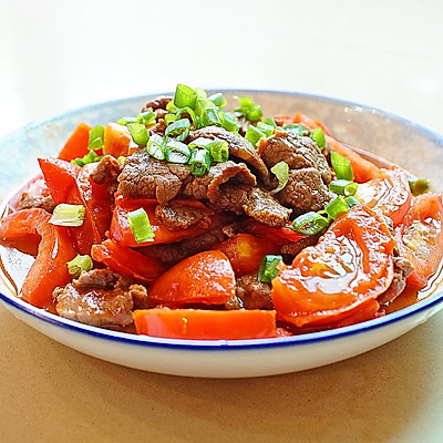 绝对鲜嫩的番茄炒牛肉