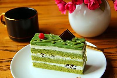 抹茶红豆蛋糕#金龙鱼精英100%烘焙大赛tiger战队#