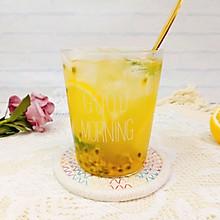 夏日冰饮,自制百香果金桔柠檬茶,清凉好喝!