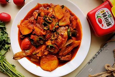 韩式辣炖黄花鱼