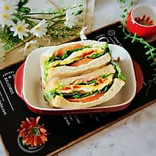 #全电厨王料理挑战赛热力开战!#芝士火腿三明治