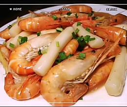 #中秋宴,名厨味#超级鲜美的——大虾炒年糕的做法
