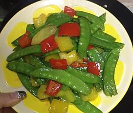 彩椒荷兰豆的做法