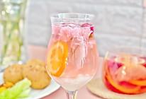 """#""""莓""""好春光日志#春季蔓越莓果茶&白玉樱花水果杯的做法"""