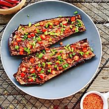 香辣鲜香巨好吃的蒜香烤茄子#全电厨王料理挑战赛热力开战!#
