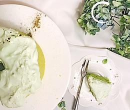 风靡娱乐圈的绿蛋糕,在家也能做!的做法
