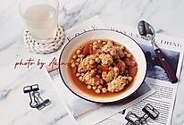 减脂 | 鹰嘴豆番茄鸡肉丸的做法