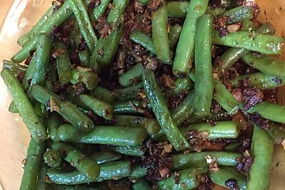 姜末肉末煸刀豆