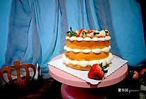 奶油草莓裸蛋糕的做法