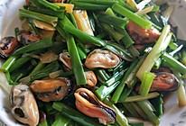 姜片葱炒青口。的做法