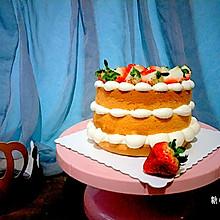 #金龙鱼精英100%烘焙大赛颖涵战队#奶油草莓裸蛋糕