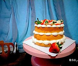 #金龙鱼精英100%烘焙大赛颖涵战队#奶油草莓裸蛋糕的做法