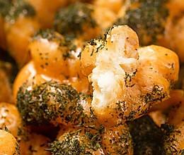 【苔条麻花】做麻花加点料,瞬间有了海的味道!的做法