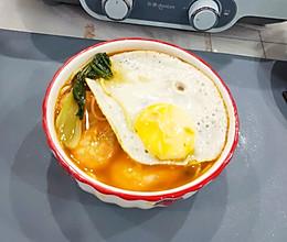 #营养小食光#明虾鸡蛋面的做法