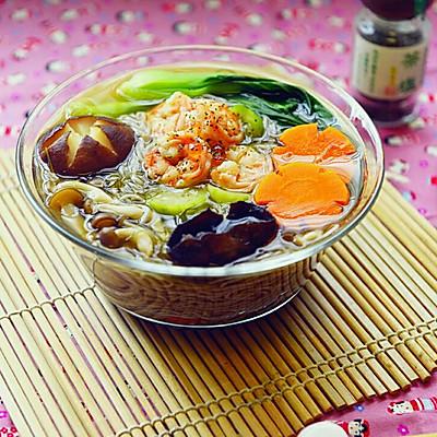 丝瓜虾汤面