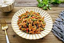 香菜辣炒肉丝#做道好菜,自我宠爱!#的做法