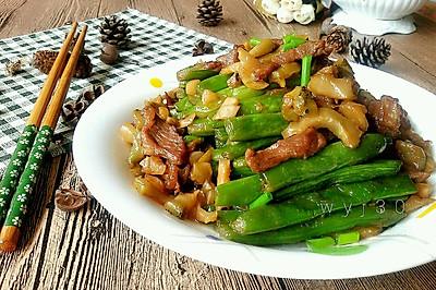 四季豆炒榨菜肉丝