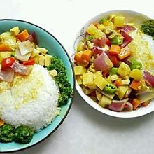 时蔬鸡肉咖喱饭