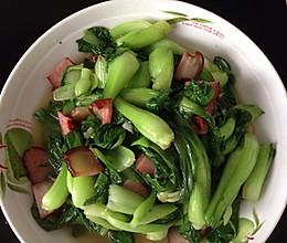 腊肉炒青菜的做法