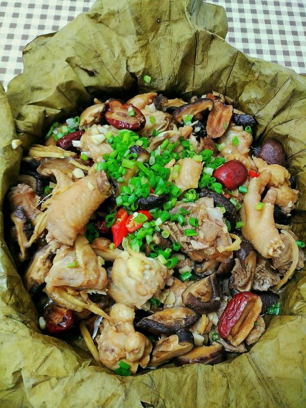 香菇荷叶鸡的做法